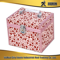Aluminium multi-functional cosmetic case, fashion waterproof photo album case with lock, custom jewelry case