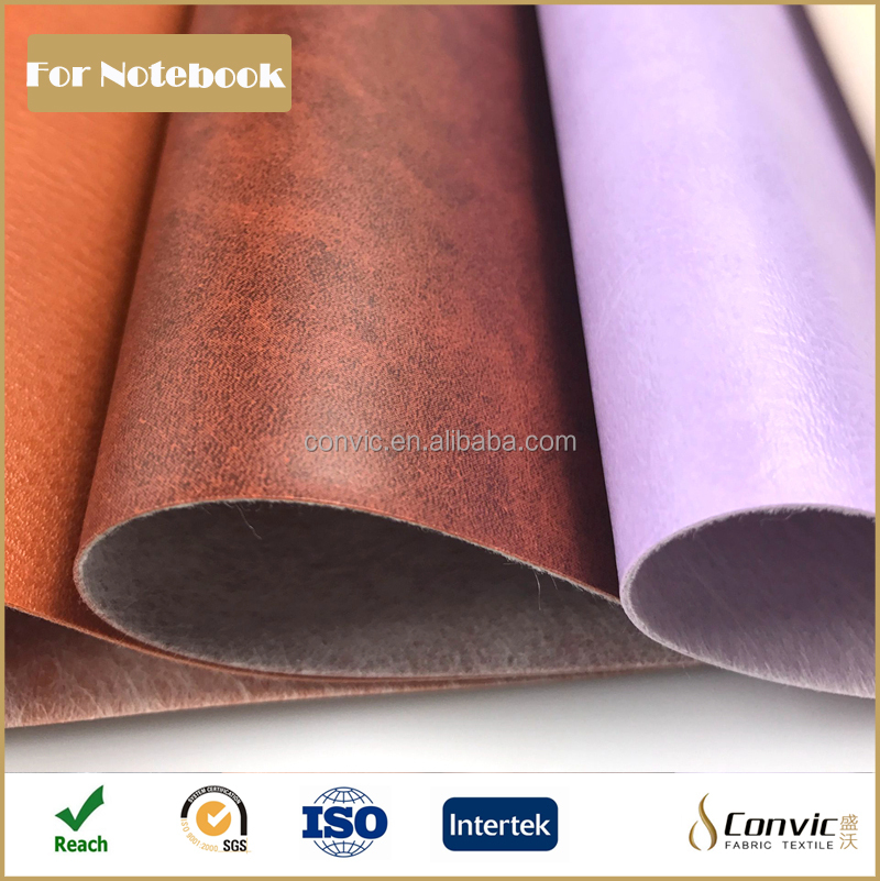 imitation pvc leather for notebook of manufacture