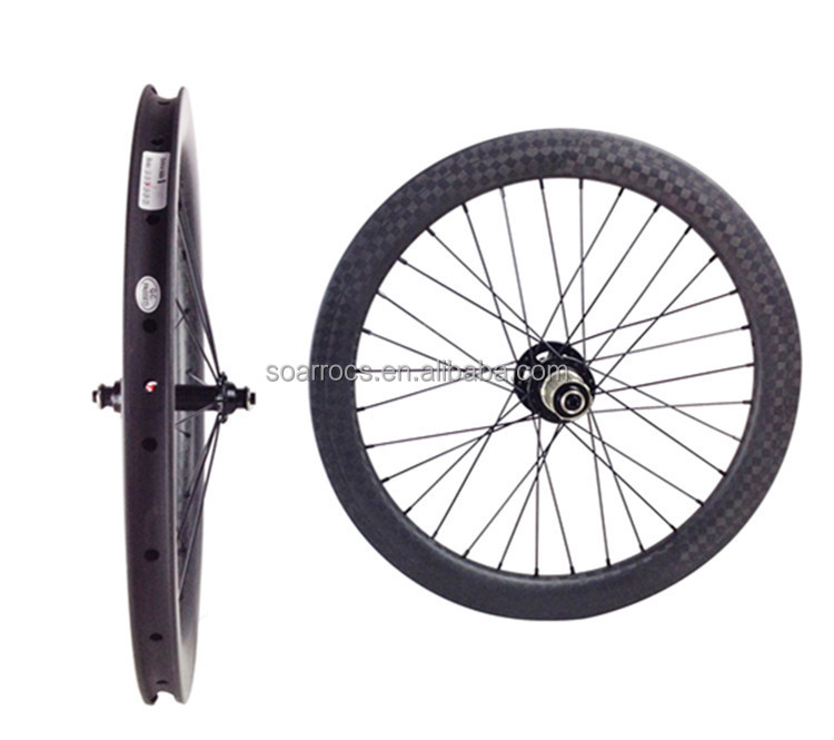 "carbon bicycle parts 20"" carbon BMX wheelsets 38mm clincher for disc brake BMX wheels 406mm"