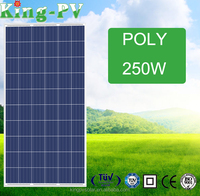 high efficiency poly 30v 250watt photovoltaic solar panel with TUV certificate for on and off grid system