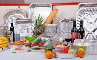 Frozen food storage aluminium container