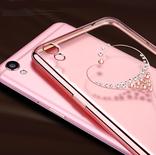 Phone Case Manufacturer Electroplating Frame TPU Case with Diamond for Samsung S8