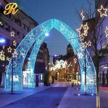 Led arch light royal blue wedding centerpieces