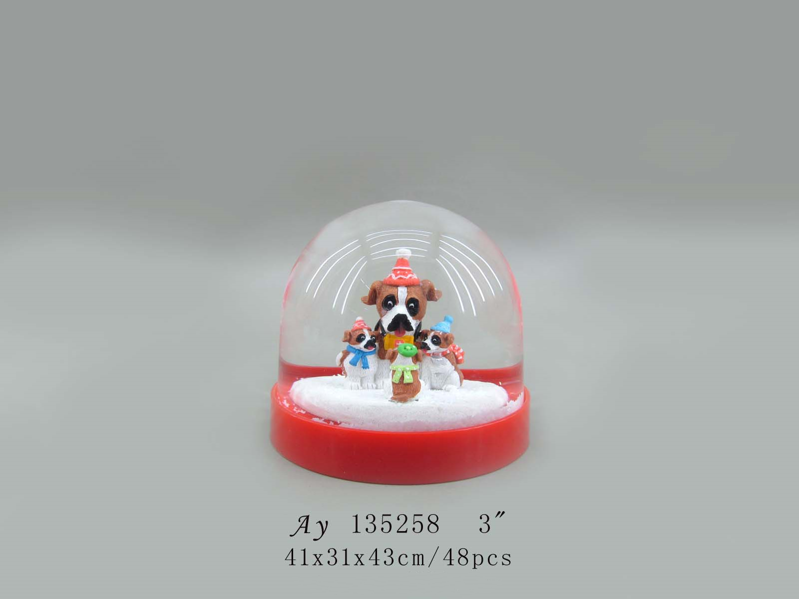 Multifunctional cheap acrylic snow globe kit for wholesales