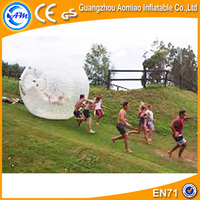 Professional manufacturer best quality hamster ball / inflatable zorb ball play on hard soil