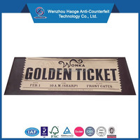 Custom roll design elegance party ticket golden ticket & gold foil tickets