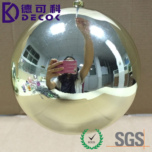 Large Oversize Chromed Mirror Finish Plastic Christmas Ball 200mm