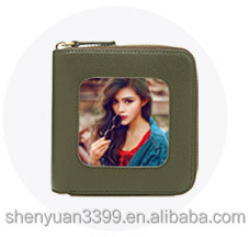 Newly cute PU wallet square shape purse with pictures for your family