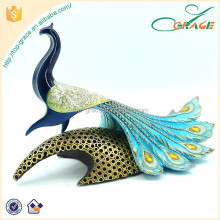 Indian peacock resin animal home decoration polyresin peacock decoration