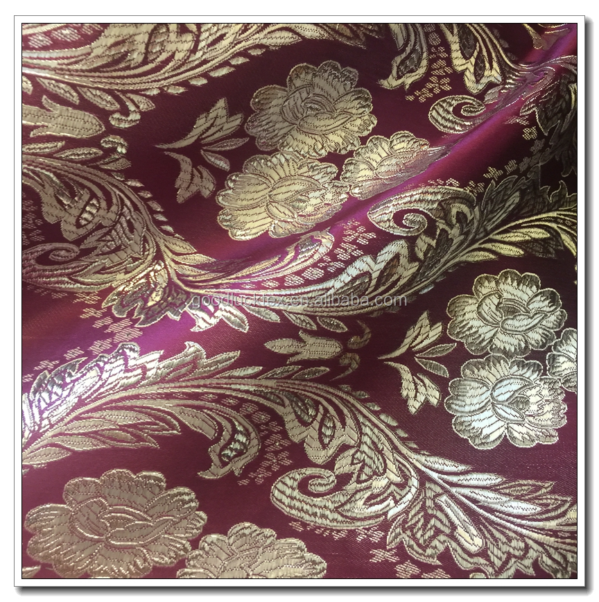 100% polyester brocade jacquard living room curtain fabric