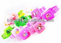 The best selling kids inside mirror flip open silicone watches
