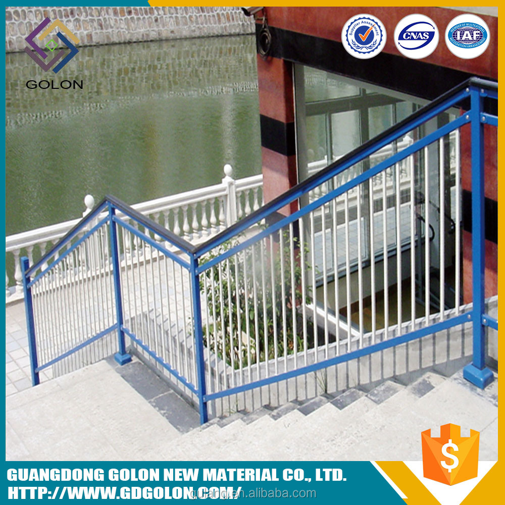 Easily Assembled balcony stainless steel railing designs , stair handrail , wrought iron stair railing