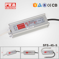 45W 5V waterproof led electronic driver IP67 power supply SFS-45-5 with CE ROHS