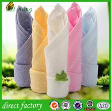 good water absorption orange hand towel made in china