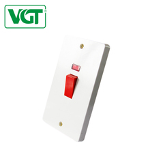electric wall switch 45a 250v 85*86 weatherproof switch home use