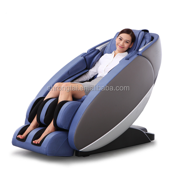 2016 new innovative neck and back shiatsu massage chair with foot rollers