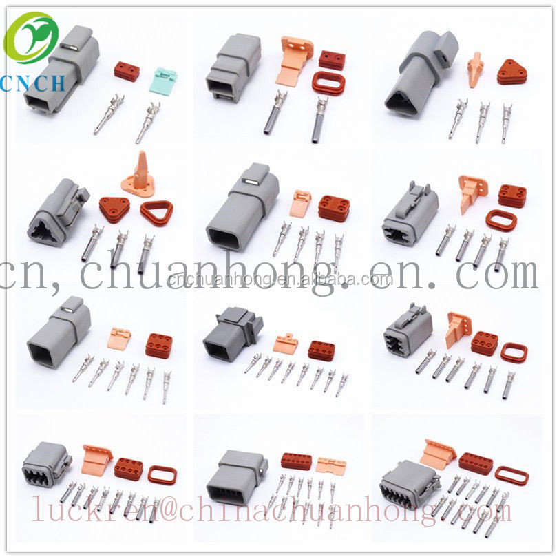 Waterproof Connector Deutsch DT06 Or 04 Male Female Auto Connector Plug