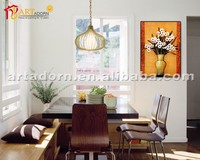 Home decor flower vase paintings with beautiful flower