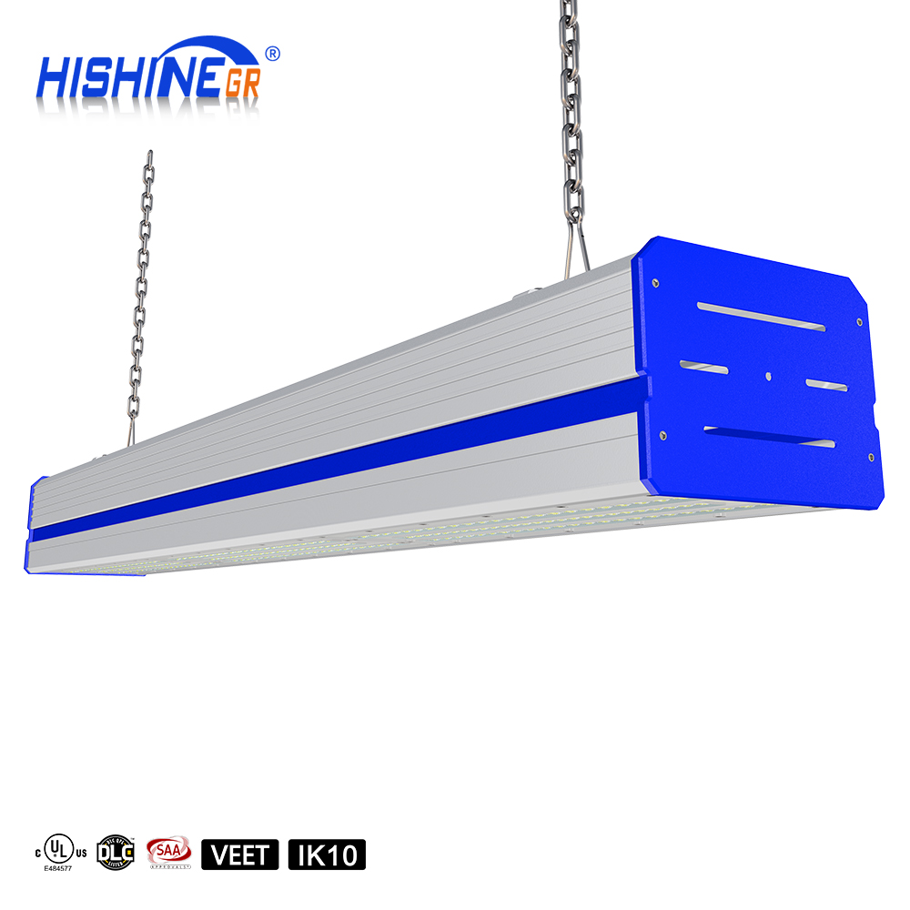 UL DLC SAA Approval Warehouse Lighting IP65 Waterproof Industrial Modular LED Linear High Bay Light