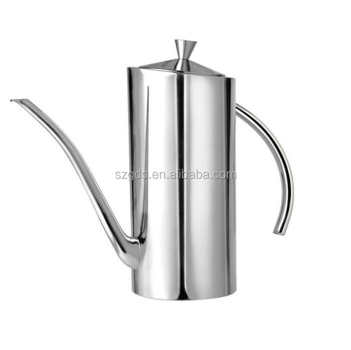 18/8 Stainless Steel Vinegar Bottles Olive Oil Can Dispenser Vinegar Container Long Mouth Leak Proof Pot 500ML /700ML