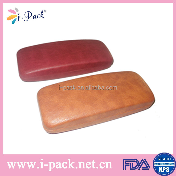 leather metal hard factory glasses/spectacle case/bag fancy case box for sunglasses