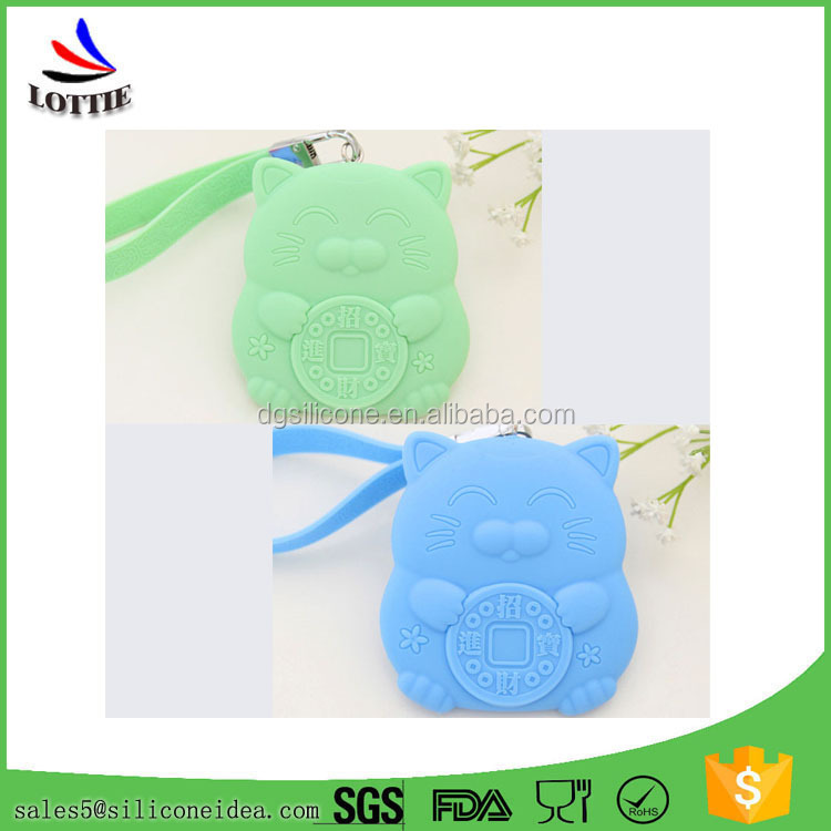 New Promotional Portable silicone key holder bag Flexible Silicone Card Case