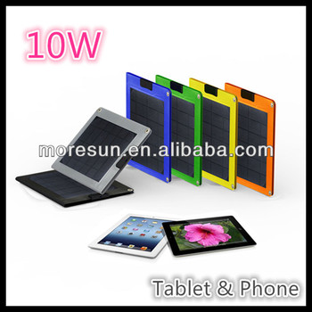 10W folding flexible solar panels charger for tablet and cellphones