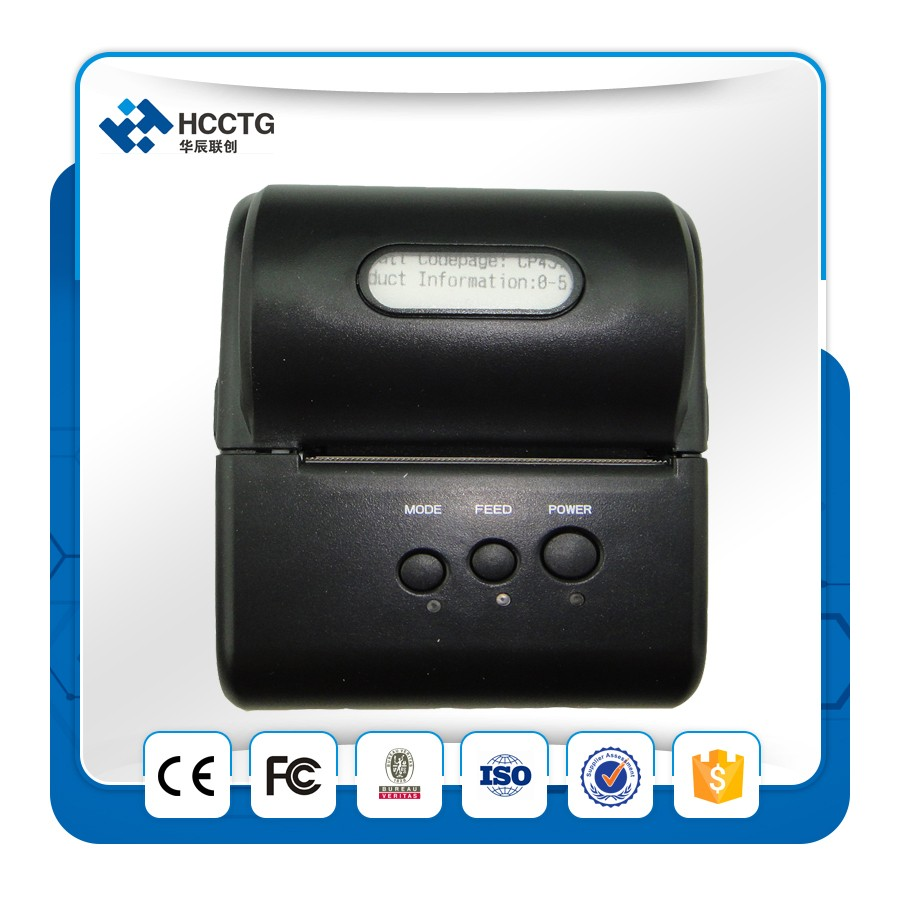 2 inch Battery Powered Portable Android Bluetooth Printer --T10BT