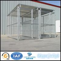 100% Modular 2 runs welded wire mesh large dog kennel