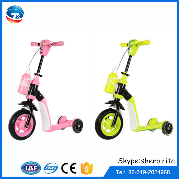 China factory wholesale new models 3 wheel child scooter music kids scooter