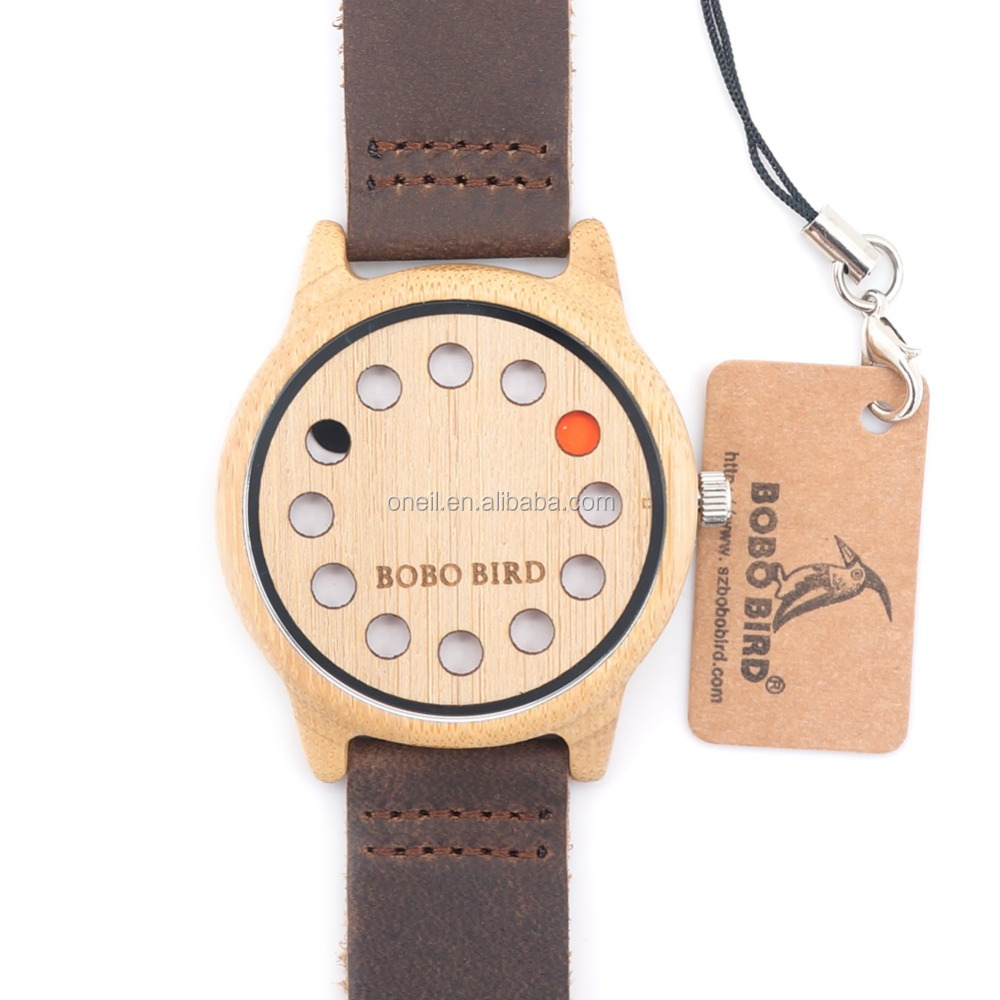 High quality watches 12 holes dial top brand bobo bird watch for young people
