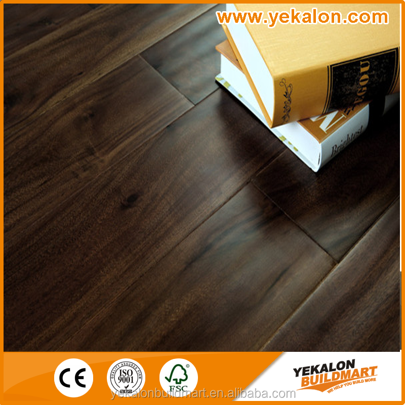 Walnut color 18mm Solid Acacia Flooring