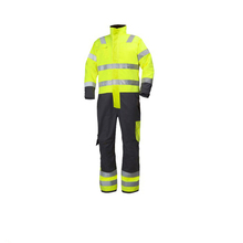Fluorescent yellow fire resistant workwear coveralls