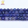 High quality 16mm crack fine veins semi precious stone round gemstone