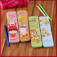 China supplier stationery free sample promotional ! low price custom printed cute tin pencil case