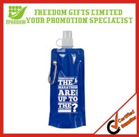 BPA Free Advertising Folding Water Bottle