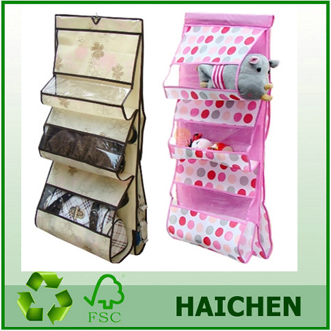 2014 Hot Sale Fabric Foldable Dress Hanging Wall Storage Organizer