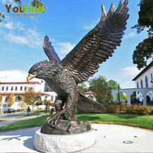 outdoor bronze eagle sculptures for sale
