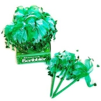 2014 new design fashion lucky shamrock/clover fabric tutu pen