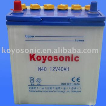 Chinese reasonable price Dry charged lead acid battery 12v 40AH Car batteries