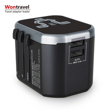 Promotional Gift Items 3.4A output Universal Travel Adapter AC DC Power Cell Phone Charger Adaptor