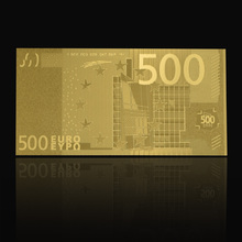 Wholesale Custom Euro 500 24k Gold Plated Paper Money Banknote