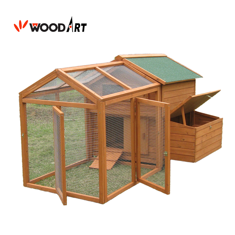Design wooden chicken coop with large run for sale