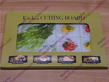 Unbreakable tempered glass cutting board,christmas decoration tempered glass chopping board