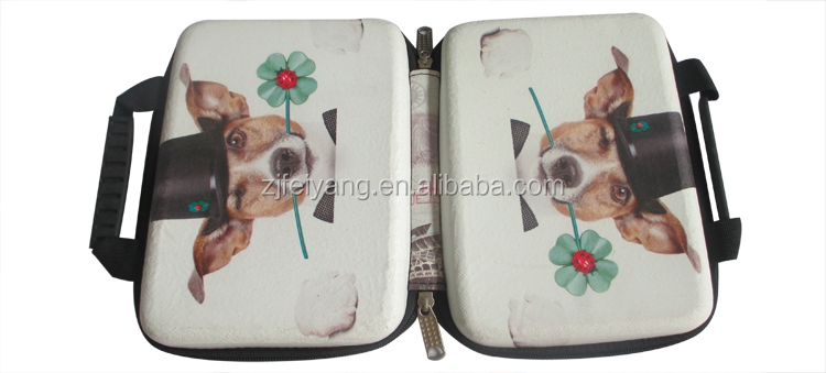 Lovely dog design eva hard shell laptop case,eva tablet bag