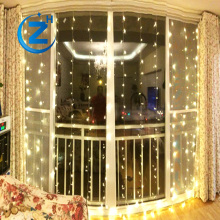 Holiday lighting fairy wedding party home decoration glitter color changing rain waterfall christmas outdoor led curtain light