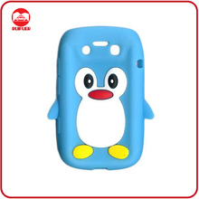 Hot Selling Penguin design Animal Shaped Silicone Cases for Blackberry Bold 9790