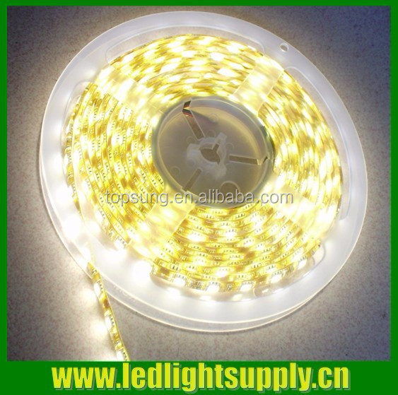 Shenzhen factory SMD5050 flexible and trimmable continuous length battery powered tape led light warm white color 60leds/m