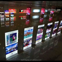 free floor standing double sided textile frameless LED advertising backlit display fabric light box display for signs