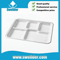 OEM Recyclable divided plate without lid
